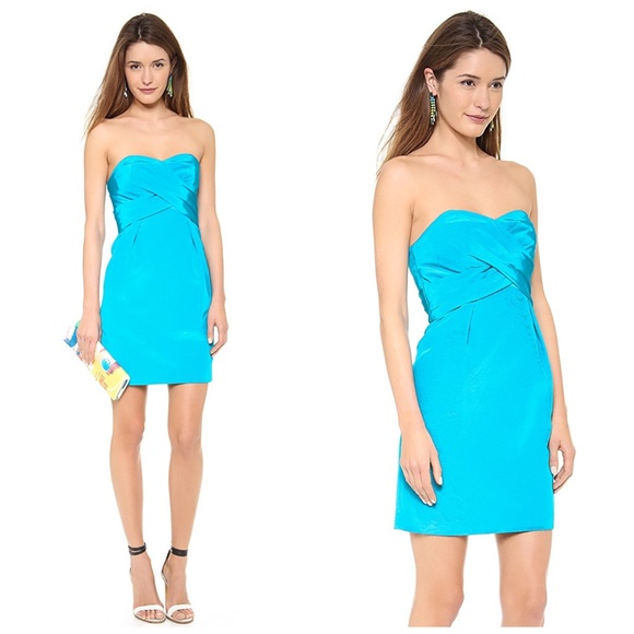 Shoshanna Dresses & Skirts - SHOSHANNA TURQUOISE KIRA STRAPLESS DRESS SZ 2 $308